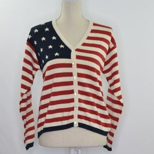 Talbots Americana Mother of Pearl Button Cardigan